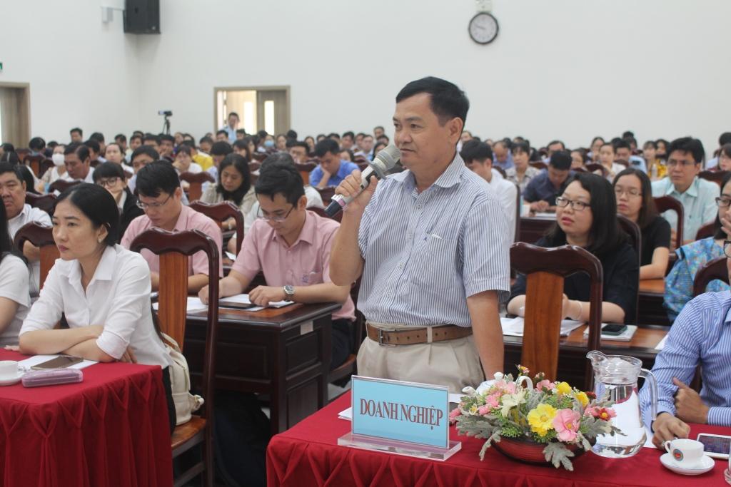 Đại diện Doanh nghiệp trao đổi, phản ánh tại Hội nghị đối thoại