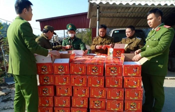 Thu giữ gần 2 tấn hồng sấy dẻo nhập lậu trị giá gần 100 triệu đồng