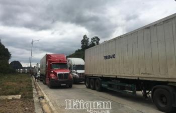 Cửa khẩu Tân Thanh- Lạng Sơn còn tồn đọng khoảng 800 xe hàng nông sản