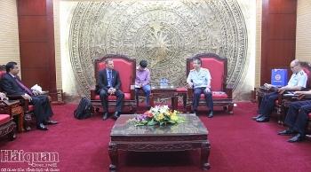 Phó Tổng cục trưởng Mai Xuân Thành tiếp xã giao chuyên gia Dự án Inama