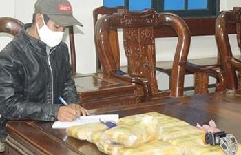 Biênphòng Hà Tĩnh bắt đối tượngvận chuyển 60.000 viên ma túy