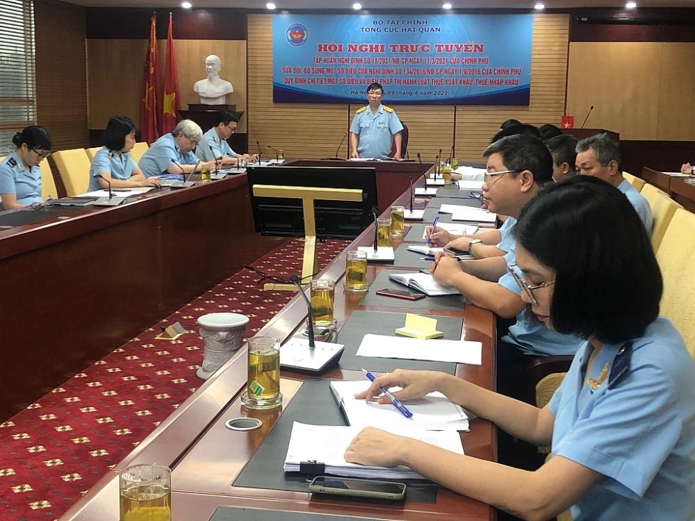 Phó Tổng cục trưởng Lưu Mạnh Tưởng phát biểu chỉ đạo tại hội nghị. Ảnh: H.Nụ