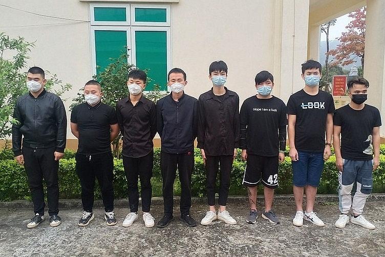 8 người Trung Quốc vượt biên trái phép. Ảnh: BP LS