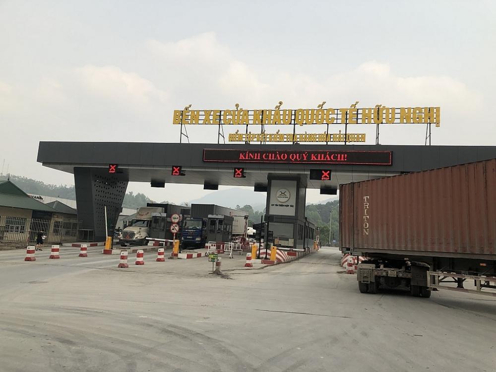 Công ty CP hữu nghị Xuân Cương là đơn vị duy nhất khai thác dịch vụ logicstic trong thông quan hàng hóa tại cửa khẩu quốc tế Hữu Nghị. Ảnh: H.Nụ