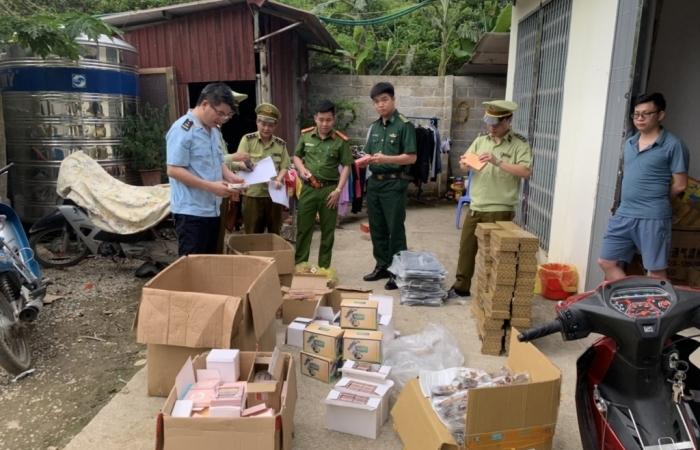 Hải quan Tân Thanh phối hợp kiểm tra kho chứa hàng lậu, giả mạo nhãn hiệu