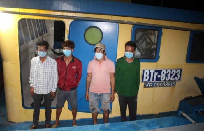 Cảnh sát biển bắt giữ 2 phương tiện và 4 thuyền viên nhập cảnh trái phép vào Phú Quốc
