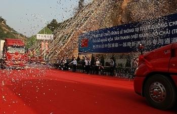 Mở chính thức đường chuyên dụng vận tải hàng hóa cửa khẩu Tân Thanh- Pò Chài