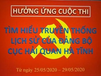 Hảiquan Hà Tĩnh tổ chức thi trực tuyến truyền thống, lịch sử Đảng bộ