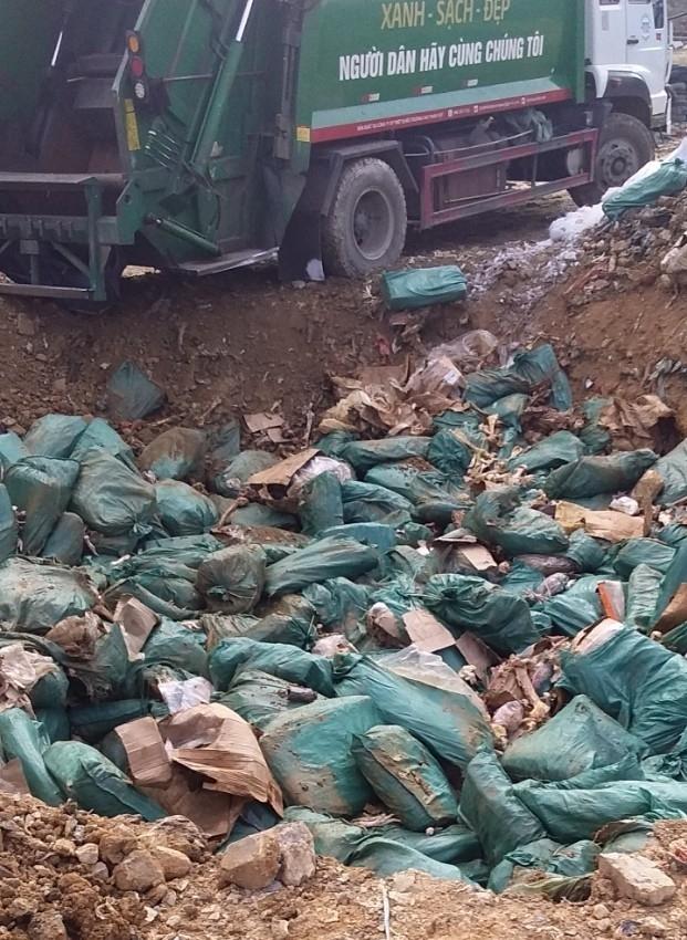 Hải quan Chi Ma phối hợp tiêu hủy lô chân gà 19 tấn đã hư hỏng