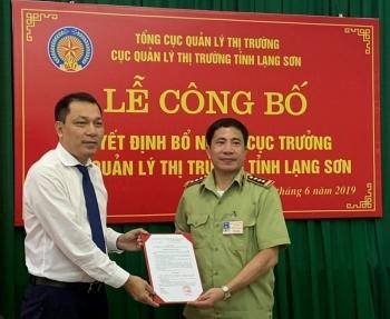 Ông Nguyễn Văn Trường được bổ nhiệm làm Cục trưởng Cục Quản lý thị trường Lạng Sơn