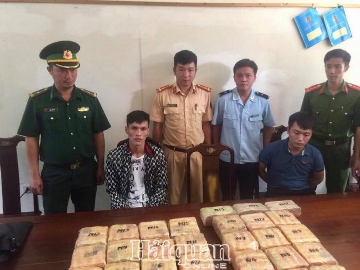 Hảiquan Hà Tĩnh bắt haiđối tượng vận chuyển 27 kg ma túy dạng đá và 3 kg ketamin