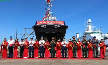 Hạ thủy 2 tàulai dắt Cảnh sát biểnSTU 1606