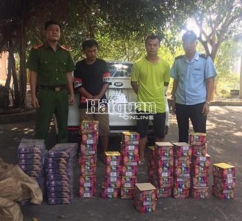 Hải quan Nghệ An phối hợp bắt gần 100 kg pháo nổ