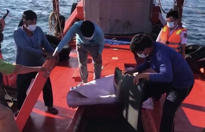 Cảnh sát biển tạm giữ tàu vận chuyển trái phép khoảng 70.000 lít dầu DO