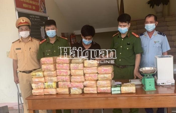 Hải quan Hà Tĩnh phối hợp bắt 31 kg ma túy, 12.000 viên hồng phiến