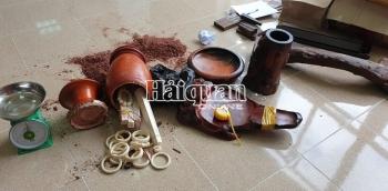 Hải quan Tân Thanh thu giữ 2,3 kg vòng, đũa nghi ngà voi