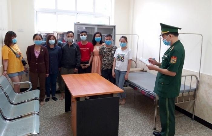 Biên phòng Tân Thanh tạm giữ 8 công dân nhập cảnh trái phép