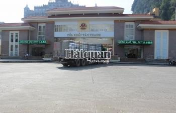 Ngày 20/2 triển khai thông quan hàng trở lại qua cửa khẩu Tân Thanh