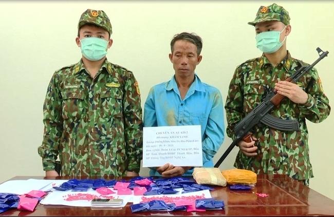 Biên phòng Thanh Hóa bắt đối tượng vận chuyển 12.000 viên ma túy