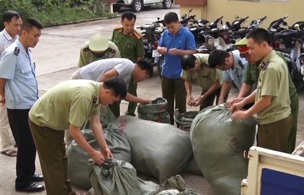 Hải quan Chi Ma phối hợp tạm giữ gần 350 kg nguyên liệu thuốc bắc