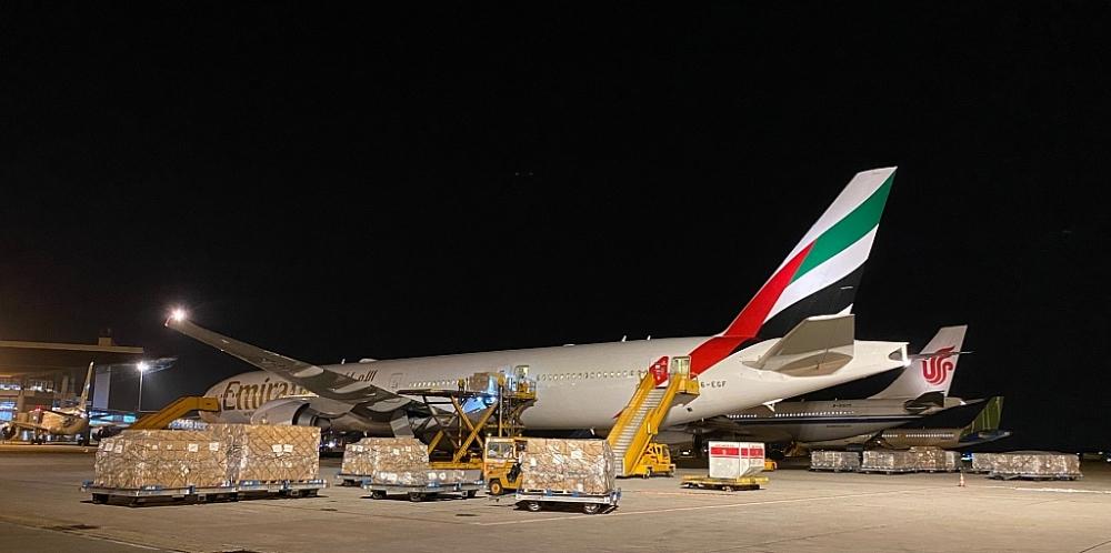 Hoạt động vận chuyển hàng hóa của Emirates SkyCargo.