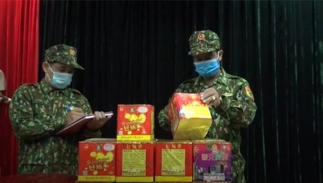 Biên phòng Lạng Sơn thu giữ 60 kg pháo nổ vận chuyển trái phép qua biên giới