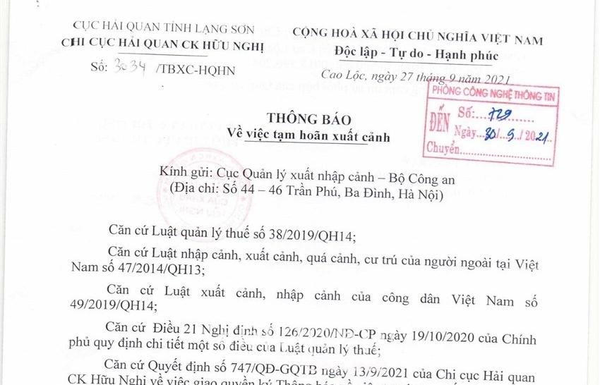 Hải quan Lạng Sơn: Áp dụng nhiều biện pháp mạnh để thu hồi nợ thuế