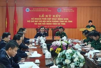 Hải quan - Biên phòng Hà Tĩnh ký kếtkế hoạch phối hợp hoạt động