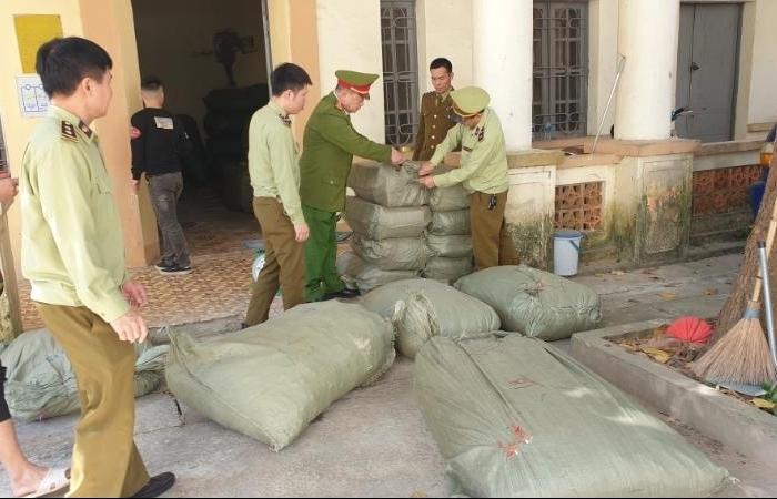Thu giữ gần 1 tấn nguyên liệu thuốc bắc nhập lậu