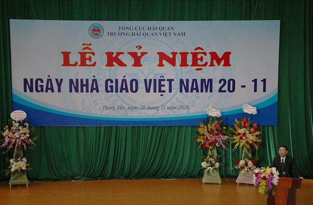 Phó Tổng cục trưởng Hoàng Việt Cường phát biểu chỉ đạo tại lễ kỷ niệm. Ảnh: Ngô Dũng
