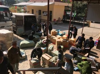 LạngSơn: Hai ngày bắt 5 vụ vận chuyển hàng hoá nghi nhập lậu
