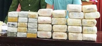 NghệAn: Bắt nhóm người Lào thu giữ30 bánh heroin, 18 kg ma túy dạng đá