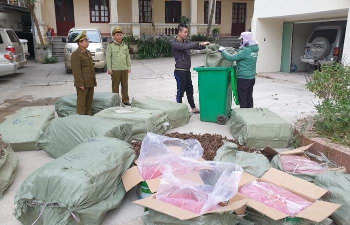 Buộc tiêu hủy 748 kg dược liệu nhập lậu