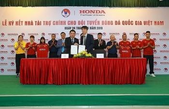 Honda Việt Nam tài trợ chính cho các đội tuyển bóng đá quốc gia