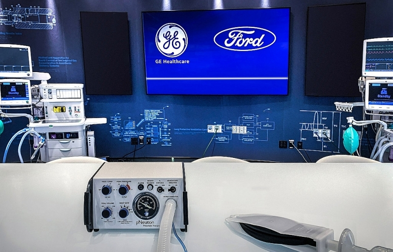 ford hop tac voi ge healthcare san xuat 50000 may tho