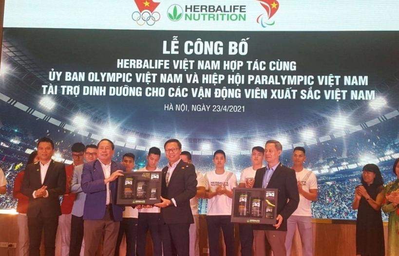 Herbalife tài trợ bộ sản phẩm dinh dưỡng cho 150 vận động viên Việt Nam