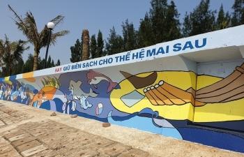 Khánh thành bức tranh dài kỷ lục tại kè bờ biển Thanh Hóa với sự tài trợ Akzo Nobel