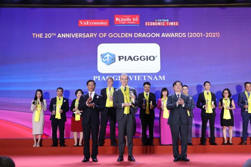 Piaggio Việt Nam nhận giải thưởng Rồng Vàng