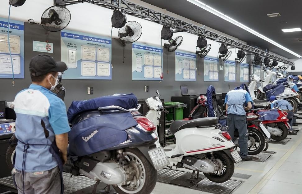 Piaggio Việt Nam tăng thời gian bảo hành cho sản phẩm và phụ tùng chính hãng