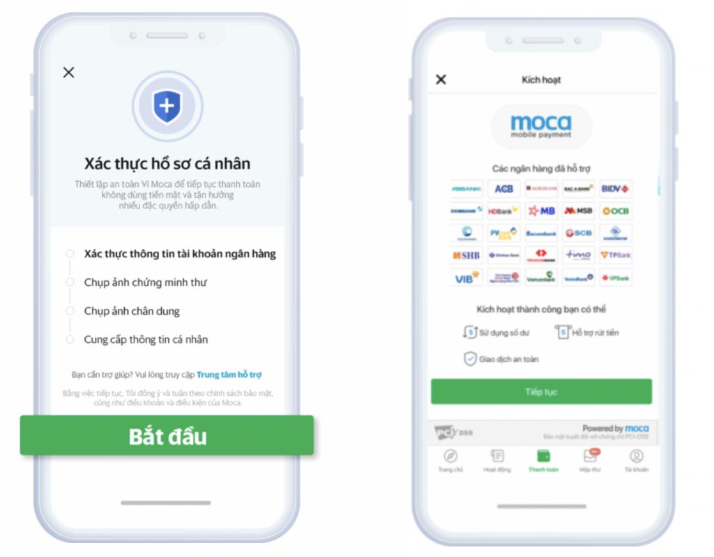 Ví điện tử Moca khuyến nghị người dùng xác thực thông tin để tăng cường bảo mật