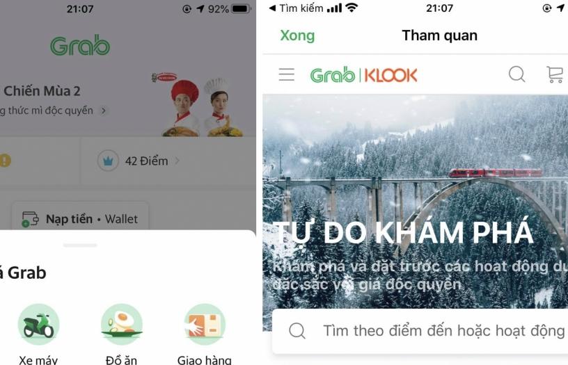 Grab và Klook hợp tác mang đến trải nghiệm du lịch mới
