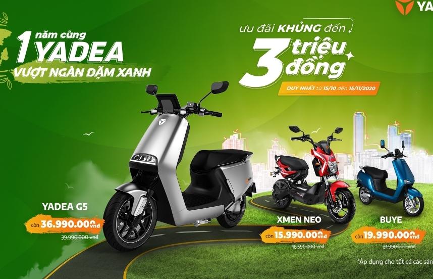 YADEA Việt Nam dành 50 tỷ đồng ưu đãi khách mua xe