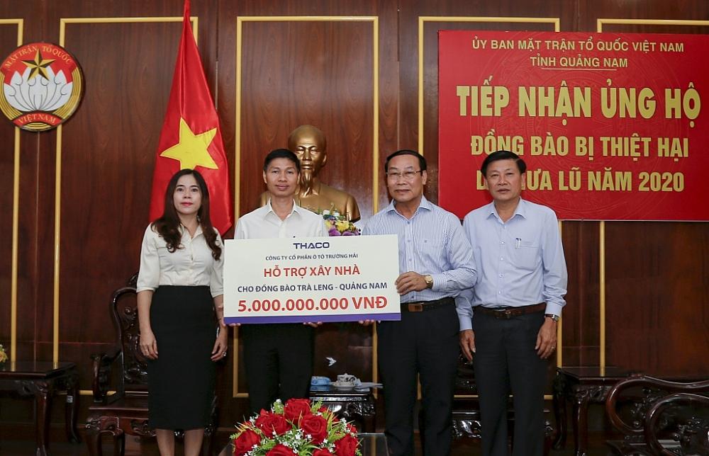 THACO hỗ trợ xây lại ngôi làng cho đồng bào Trà Leng ( Quảng Nam)