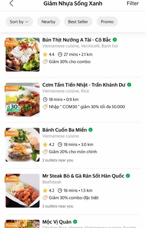 grabfood chung tay cung cong dong giam rac thai nhua