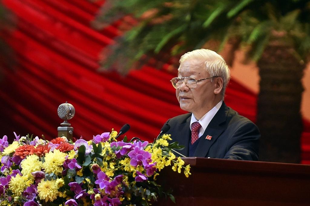 Tổng Bí thư, Chủ tịch  nước Nguyễn Phú Trọng phát biểu bế mạc Đại hội. Ảnh: Chinhphu.vn
