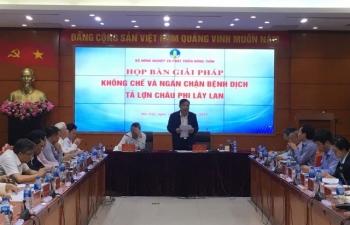 Bộ NN&PTNT họp khẩn chống Dịch tả lợn châu Phi