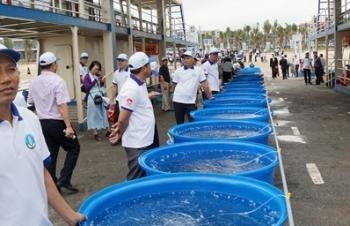 Việt Nam và Trung Quốc thả gần5,3 triệu con giống thủy sản xuống biển