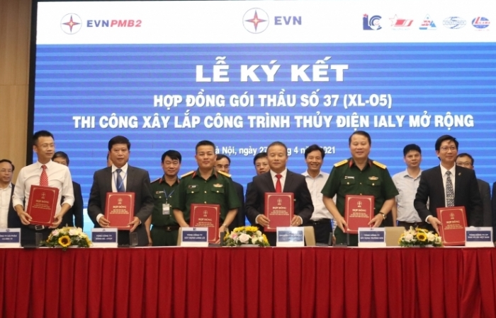 EVN ký kết hợp đồng xây lắp Nhà máy thuỷ điện Ialy mở rộng