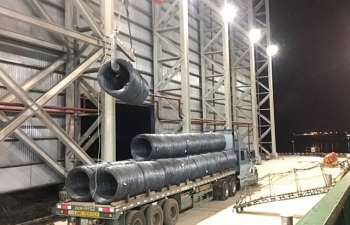 Hòa Phát xuất khẩu lô thép đầu tiên từ dự án Dung Quất