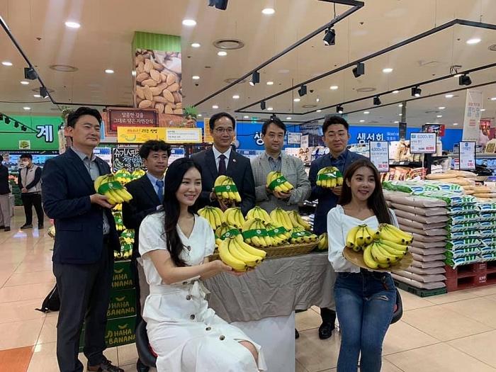 Chuối Việt Nam lần đầu xuất hiện tại thị trường bán lẻ Hàn Quốc